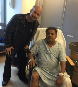 Mike donated a kidney to his brother-in-law last month!