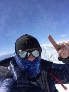 Bobby rocking 1 kidney at the top of a mountain over 14,000 feet high!